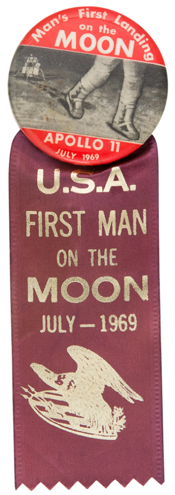 Apollo 11 with Ribbon Event Button Museum