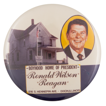 Boyhood Home of President Reagan Event Button Museum