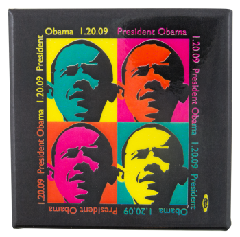Obama First Inauguration Events Button Museum