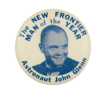 The New Frontier Man of the Year Event Button Museum