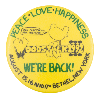 Woodstock 1992 Event Button Museum