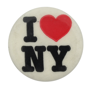I Heart New York button back Button Museum