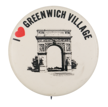 I Love Greenwich Village I Heart Buttons Button Museum
