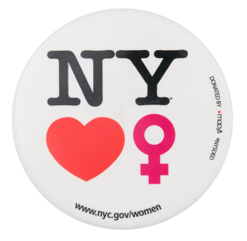 New York Loves Women I Love Button Museum