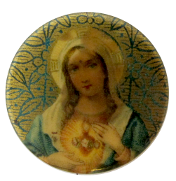 Gold Mary Art Button Museum