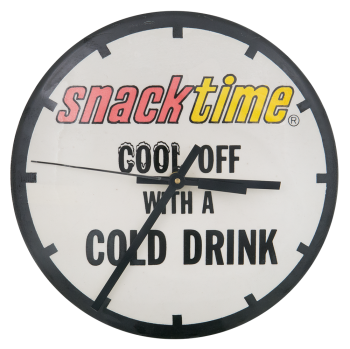 Snack Time Clock Innovative Button Museum
