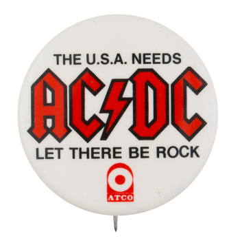 AC/DC Let There Be Rock Music Button Museum