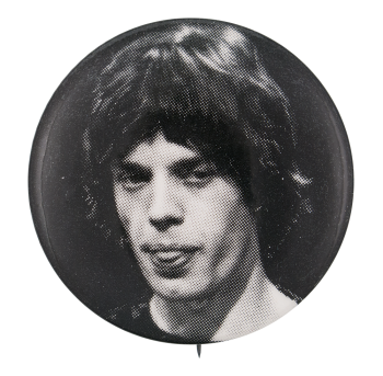 Mick Jagger Black and White Music Button Museum