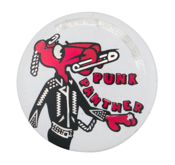 Punk Panther Music Button Museum
