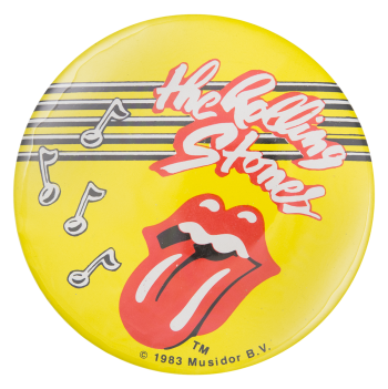 Rolling Stones Musical Notes Music Button Museum