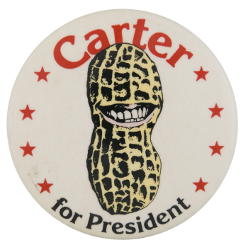 Carter Smiling Peanut  Political Button Museum