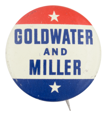 Goldwater and Miller Political Button Museum