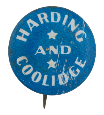 Harding And Coolidge with stars Political Button Museum