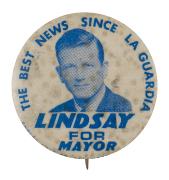 Lindsay for Mayor Political Button Museum