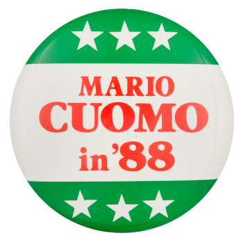 Mario Cuomo in '88 Political Button Museum