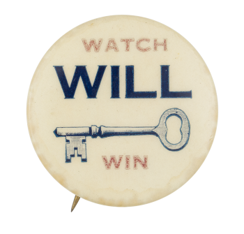 Watch Will Key Win Political Button Museum