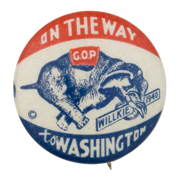 Willkie 1940 Political Button Museum