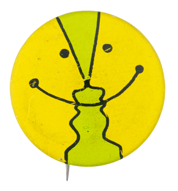 Yellow and Green Smiley Smileys Button Museum