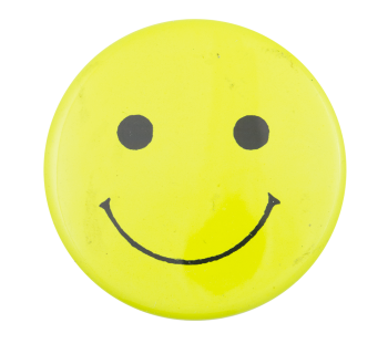 Bright Yellow Smiley Smileys Button Museum