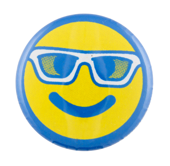 Sunglasses Smiley Face Smileys Button Museum