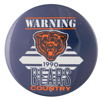 Warning Bears Country Chicago Button Museum