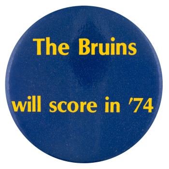 Bruins Will Score in 74 Sports Button Museum