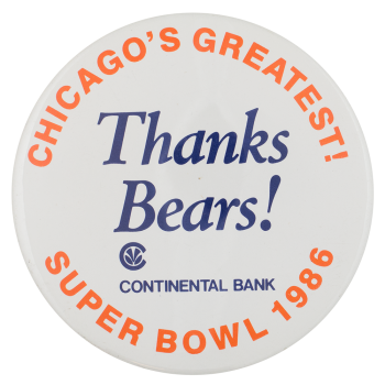 Thanks Bears Chicago Button Museum