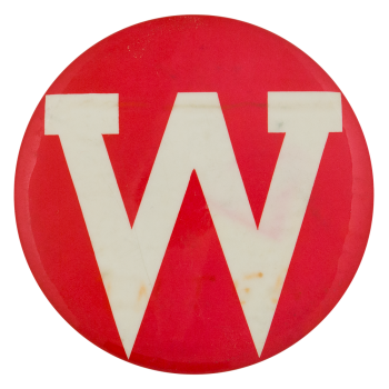 Red and White W Sports Button Museum
