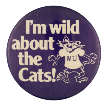 Wild About the Cats Sports Button Museum