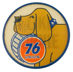Union 76 Burnie Advertising Button Museum