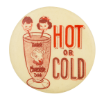 Borden's Chocolate Drink Advertising Button Museum