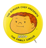 Burger Chef Presents the Family Circus Advertising Button Museum