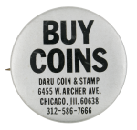 Buy Coins Advertising Button Museum