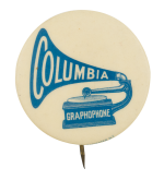 Columbia Graphophone Advertising Button Museum