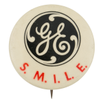 General Electric Smile Advertising Button Museum