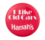 Harrah's Old Cars Advertising Button Museum