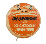 Jerseymaid Advertising Button Museum