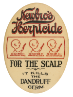 Newbros Herpicide Advertising Button Museum