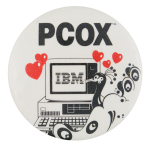 Pcox Ibm Advertising Button Museum
