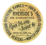 Rock Island Stove Company Advertising Button Museum