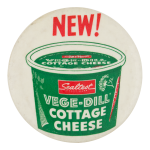Sealtest Vege-Dill Cottage Cheese Advertising Button Museum