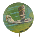 Martin Bomber Advertising Button Museum