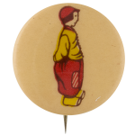 Child in Red and Yellow Art Button Museum
