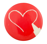 Crayon Heart Art Button Museum