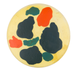 Hand Painted Three Art Button Museum