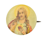Jesus With Halo Art Button Museum