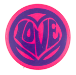 Love Purple and Pink Art Button Museum