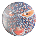 Nick Cave Ski Mask Art Button Museum