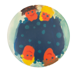 Painted People In Water Art Button Museum