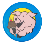 Pig With Ice Cream Art Button Museum